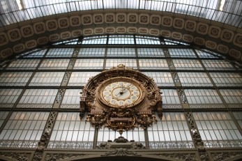 Musee d'Orsay used to be a train station before it was converted into a museum.