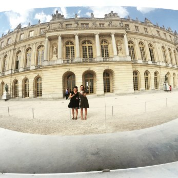 Sister bonding time at the Palace of Versailles.