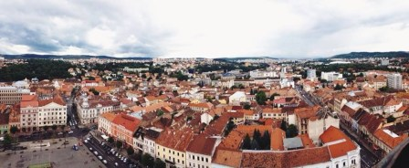 The view from atop the church.