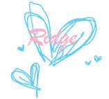 hearts teal drawingridge