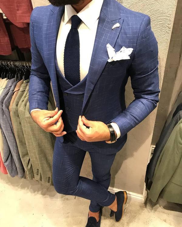 Mens Suit, 3 Piece Suit, Double Breasted Waistcoat