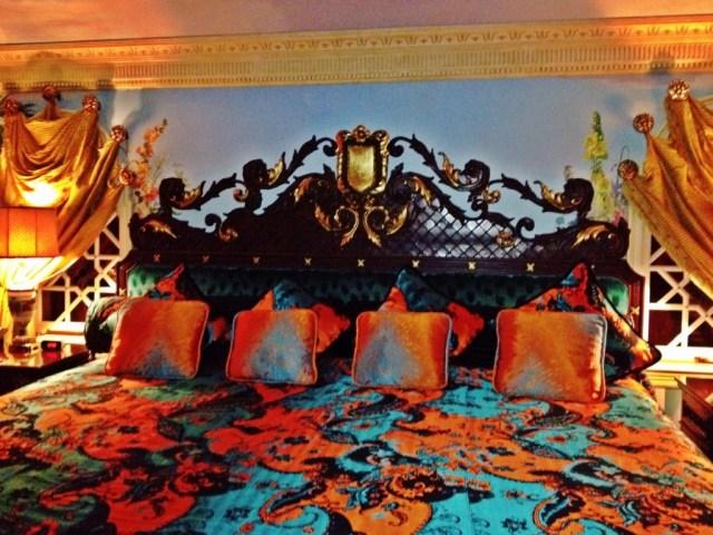 Versace's bed