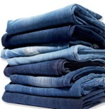 photo of a stack of jeans