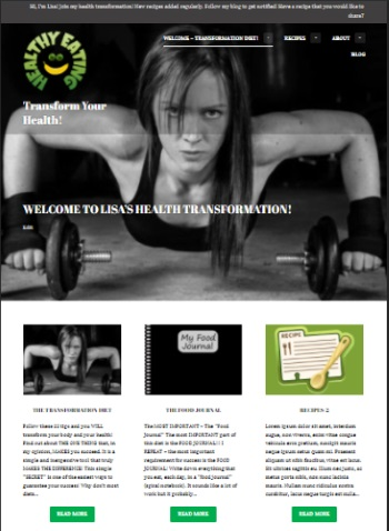 snapshot of Health and Tranformation website