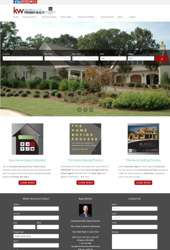snapshot of Twin Cities Home Search website
