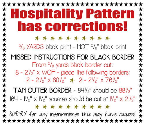 Hospitality Corrections for Website