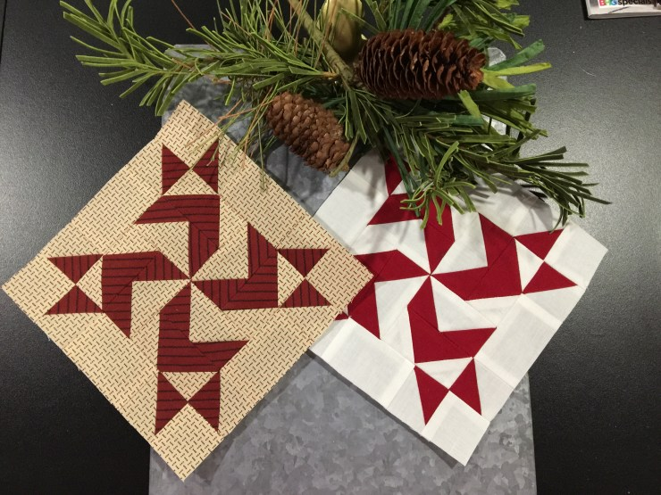 The Magic of Christmas Blocks 19 and 20 featured by top US quilting blogger, Lisa Bongean