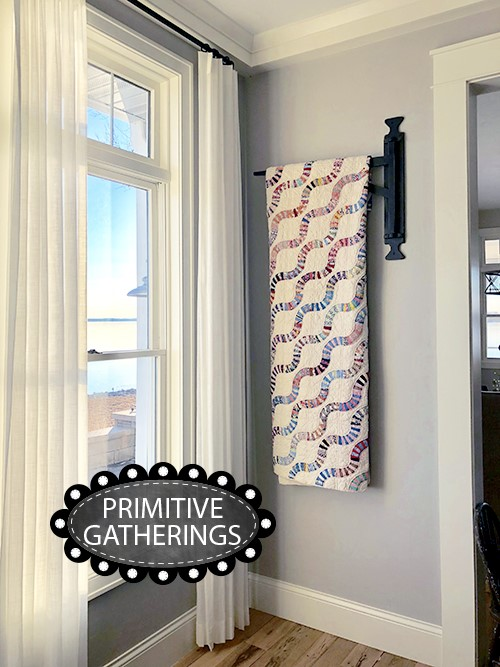 Quilt Hangers featured by top US quilting blogger, Lisa Bongean