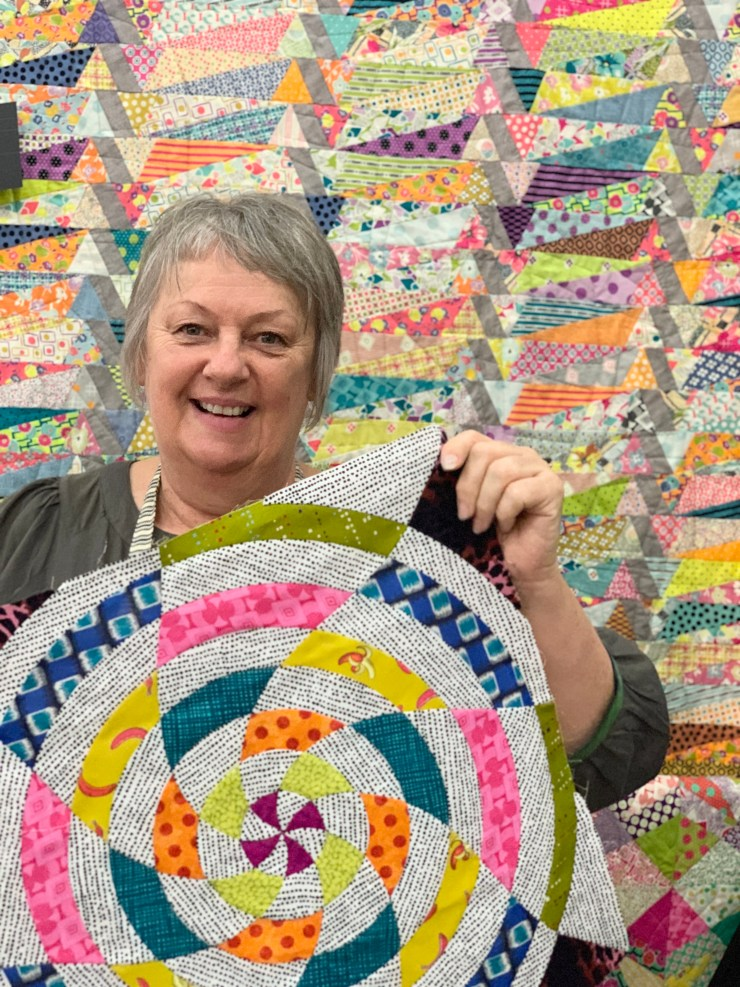 Moda Block Heads 3 Quilt Along Project Block 13:  The Baldwin featured by top US quilting blogger, Lisa Bongean