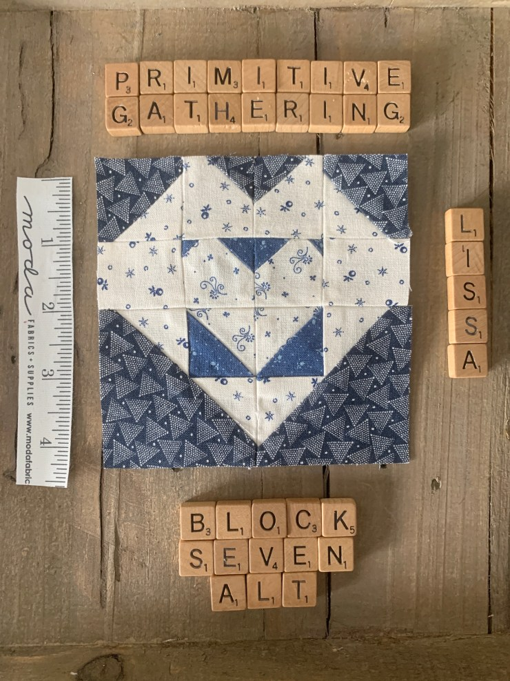 Moda Blockheads 3 Quilt Along Project Block 7 featured by top US quilting blogger, Lisa Bongean