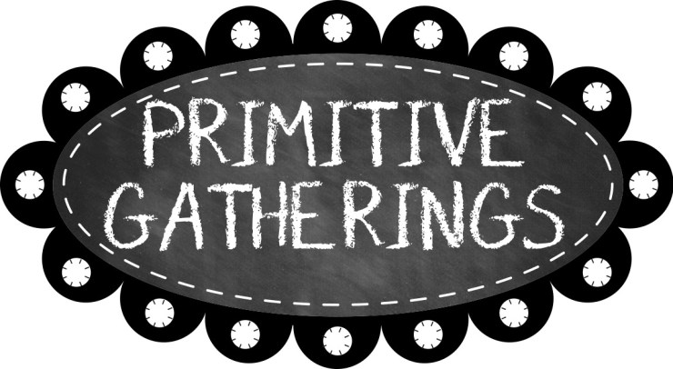 primitive gatherings logo featured by top US quilting blogger, Lisa Bongean