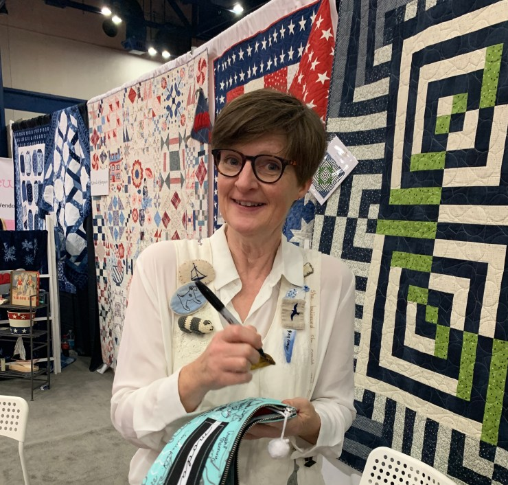 Moda Block Heads 3 Quilt Along Project Block 12 featured by top US quilting blogger, Lisa Bongean