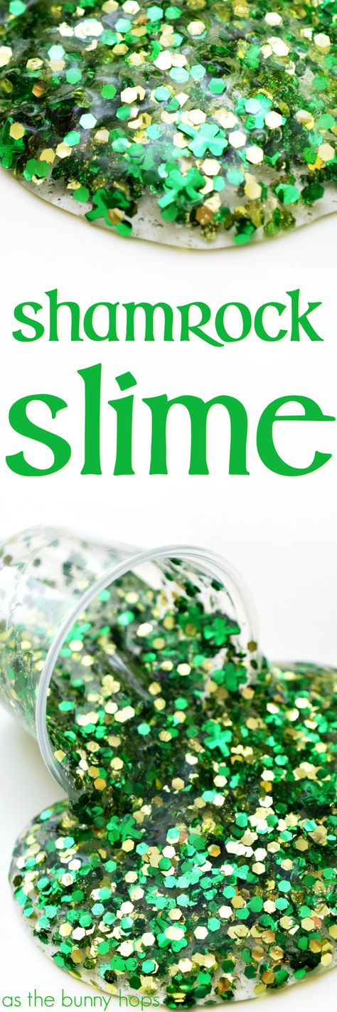 How to Make Shamrock Slime, instructions featured by top US lifestyle blogger, Lisa Bongean