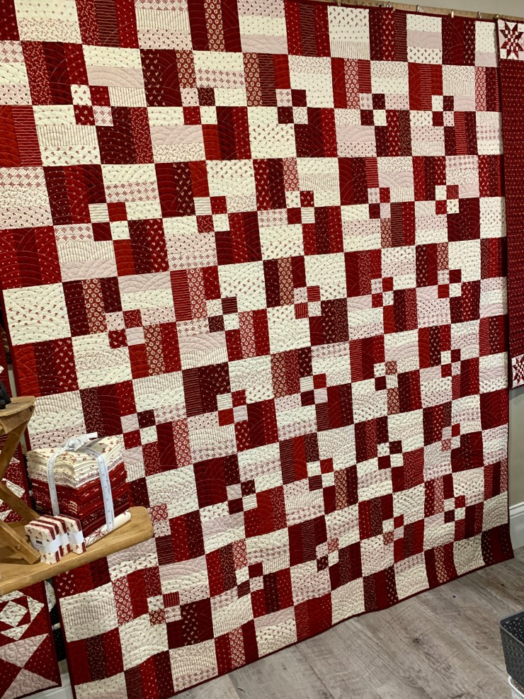 Quilting the Quilts - Redwork Gatherings Quilting Giveaway by top US quilting blogger, Lisa Bongean: Take It Easy/Primitive Gatherings