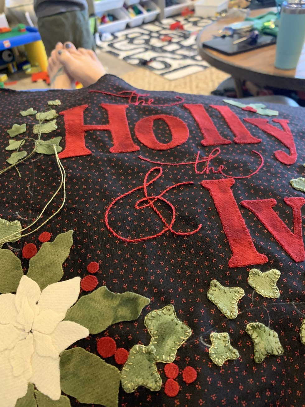 Christmas Carol Mystery Quilt sew along project featured by top US quilting blogger, Lisa Bongean