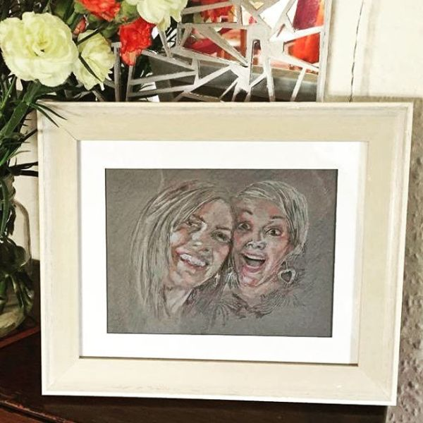 Commission piece for two of the nicest bffs you could ever meet. Lovely to see it framed  Happy big day L