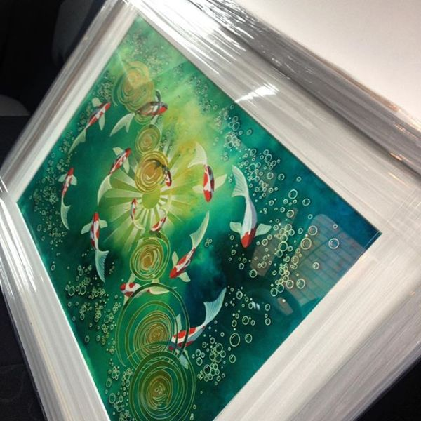 Happy daze. 'Feels like flying' off to new home.