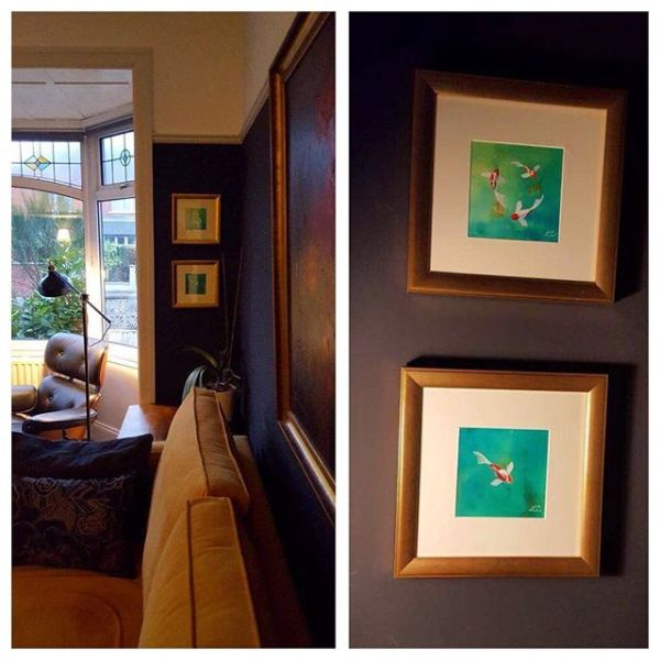 It's really special to see my work beautifully framed, clearly loved in gorgeous surroundings.