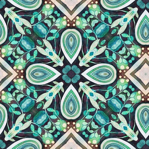 These tile and repeating pattern/textile designs from my work are my entry for the keep your fingers crossed for me and if you like please do heart  it so liberty can see it is liked