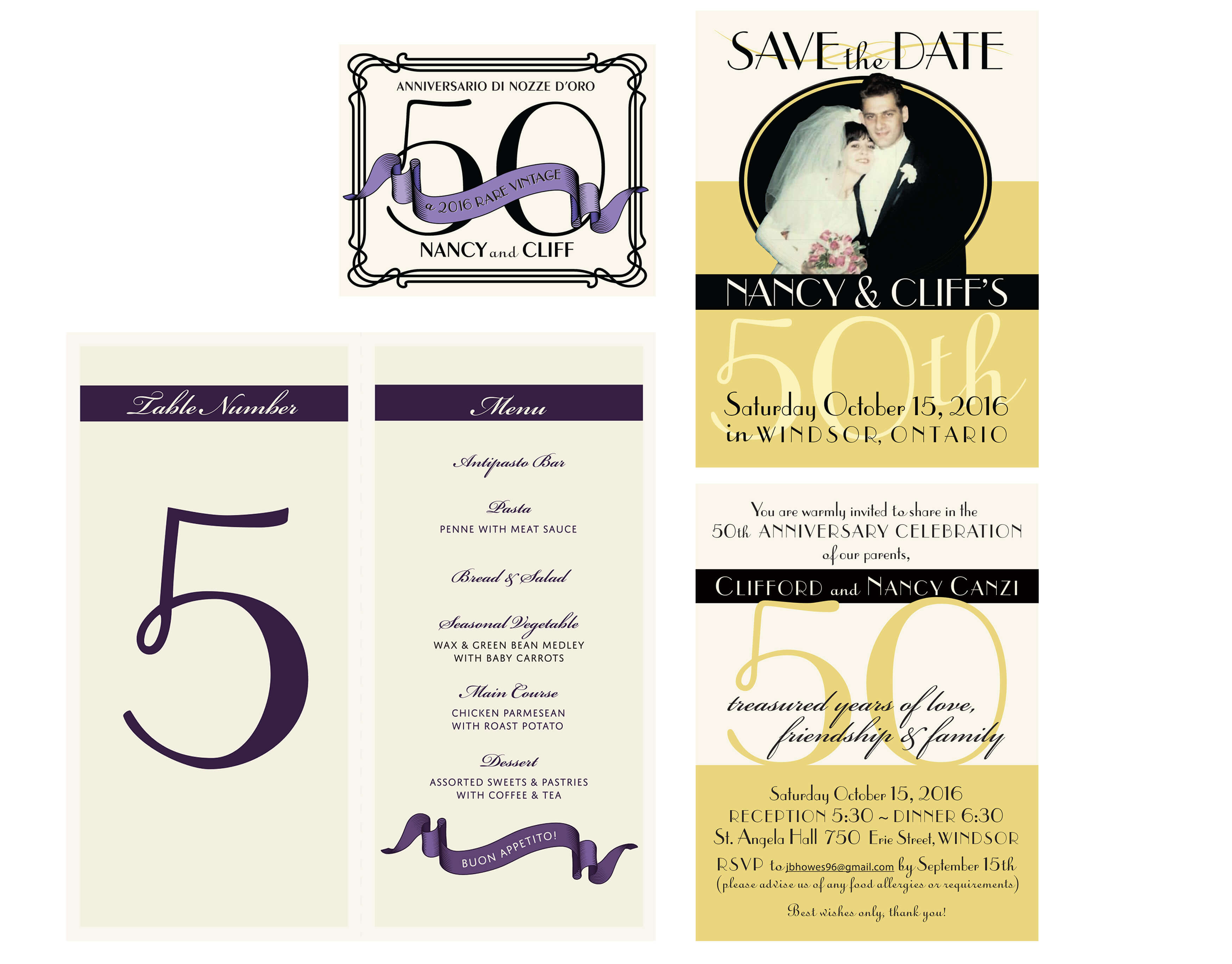 ANNIVERSARY PARTY STATIONERY