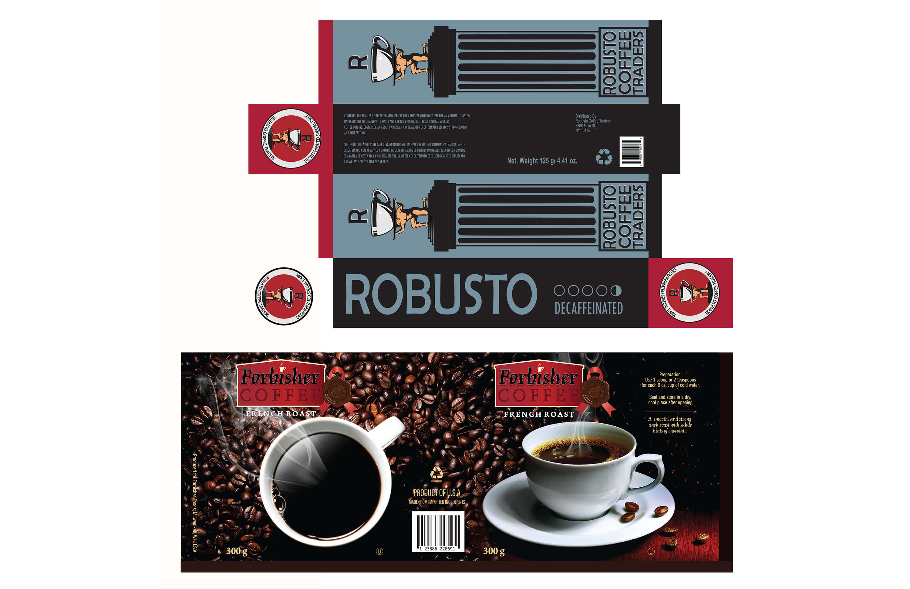 ROBUSTO COFFEE LABELLING