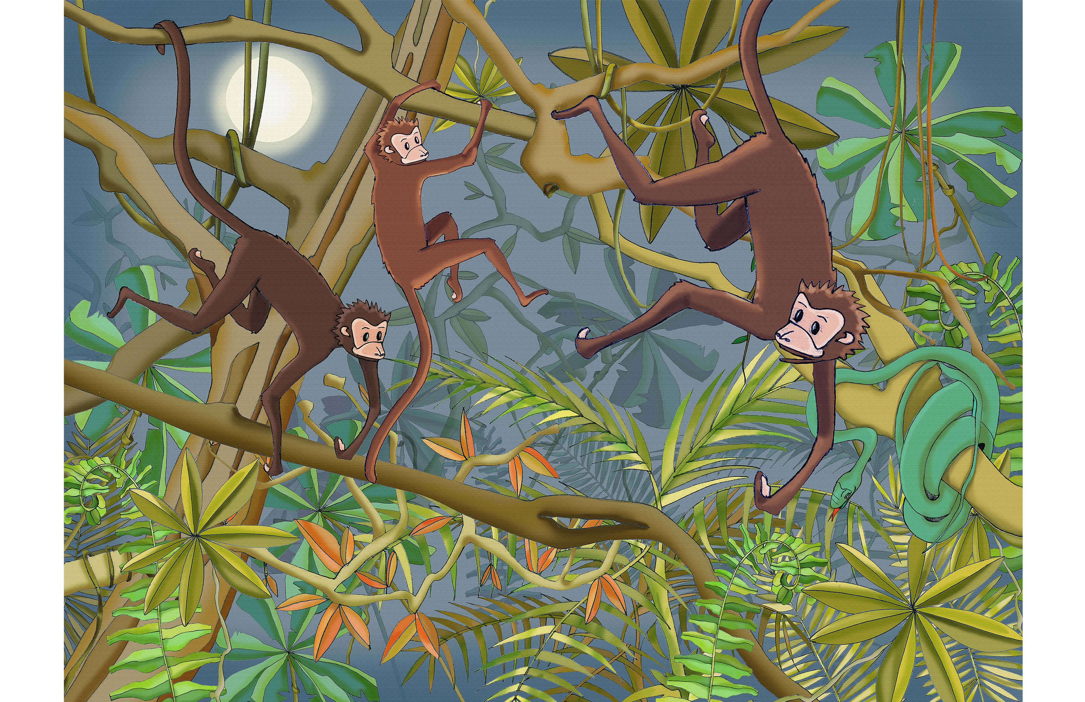 WALLPAPER-MONKEY-MURAL