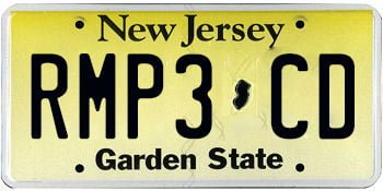 our mp3 cd license plate