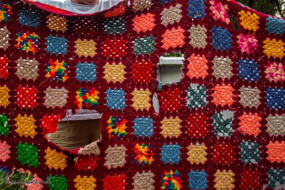 Damaged vintage crochet blanket, WWYD?