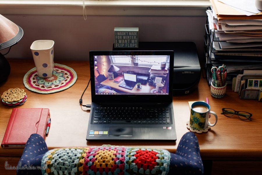 My Desk with Plenty of Natural Light