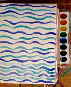 Watercolor ripples