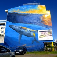 Car Advertised for Sail In Street Art Created By Seyb for ONO'U 2014 - Tahiti