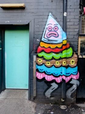 Street Art - Newcastle - October 2015 - Surprised - Laman - Artist Unknown