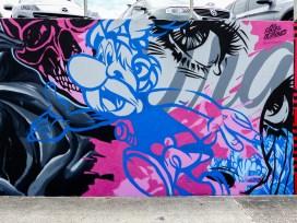 Section of Alex Lehours Mural - Bondi