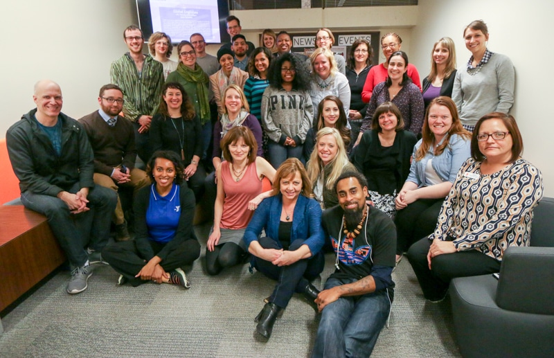 Photo of Participants in the 2016 DePaul MA in WRD Digital Content Partnership