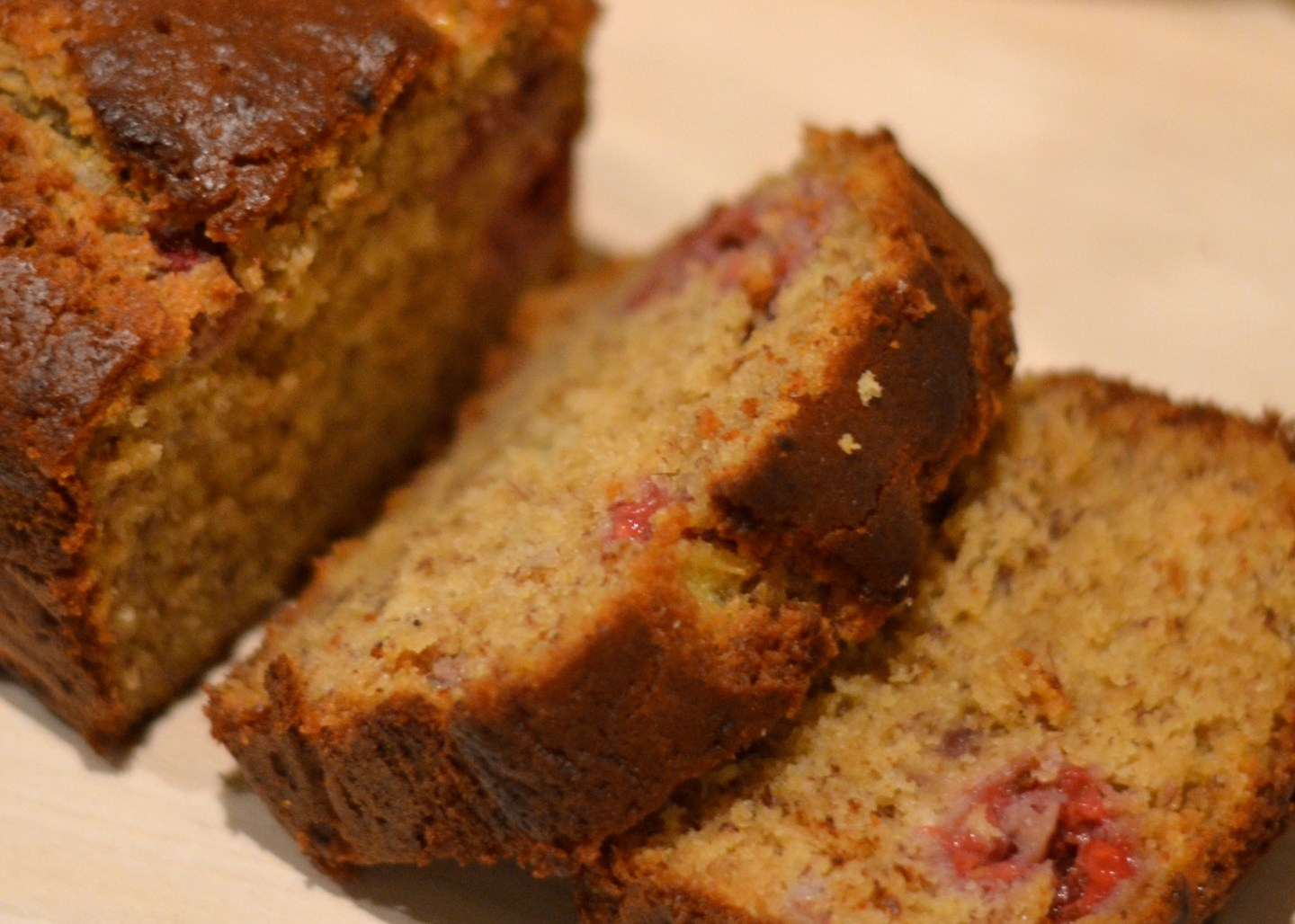 Banana & Raspberry Bread