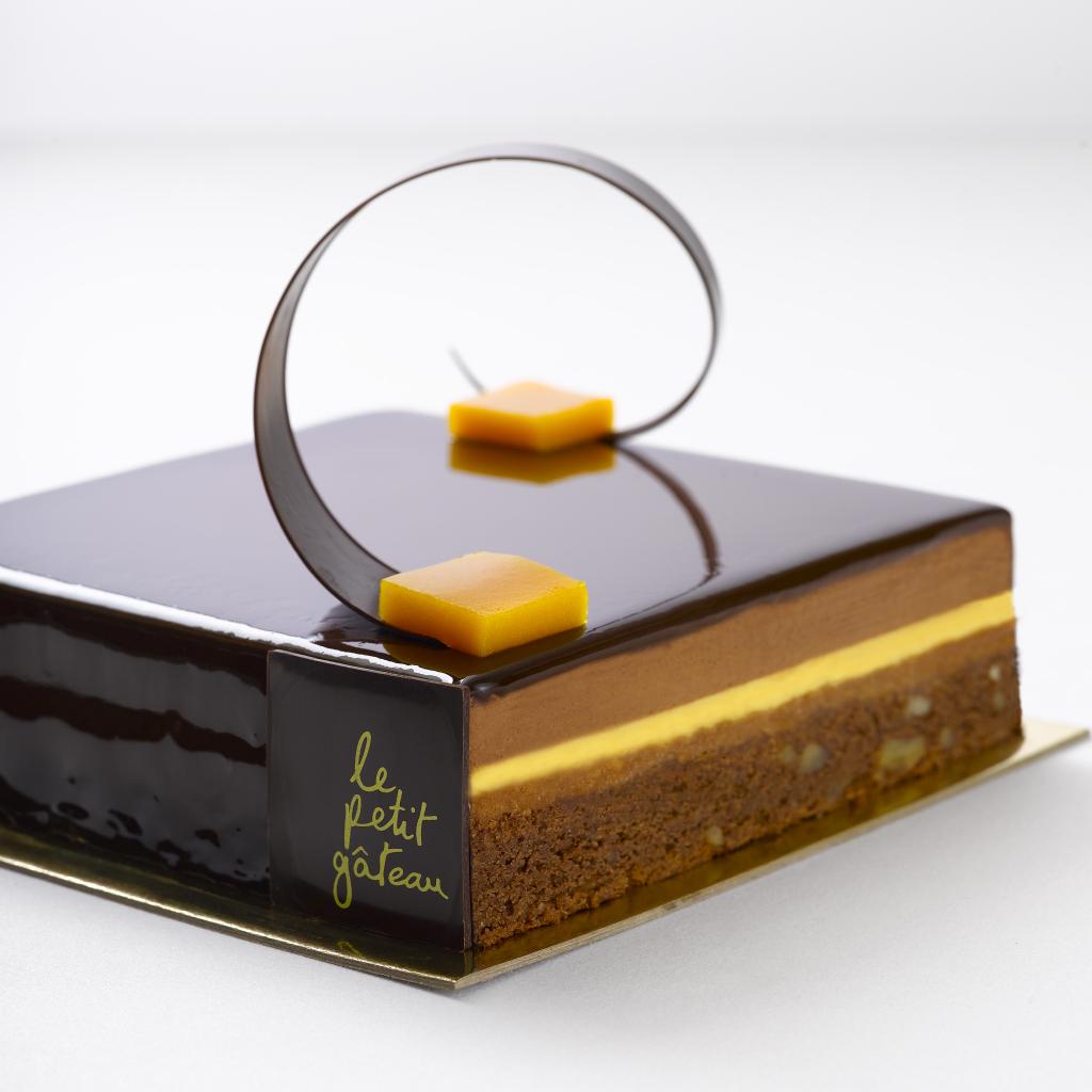 Brownie and Passionfruit Chocolate Gateau - Le Petit Gateau