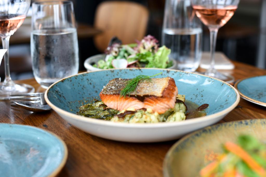Taxi Kitchen crispy salmon