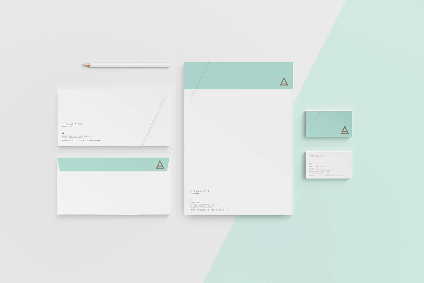 This Old Attic stationery design, by Lisa Furze