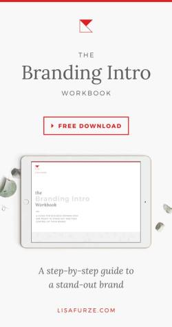 The Branding Intro Workbook — a free resource for business owners who want to strategically build their brand
