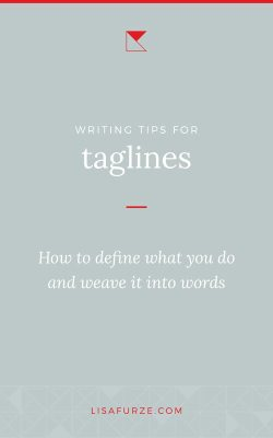 How to define your business and perfectly capture the important details for your tagline.