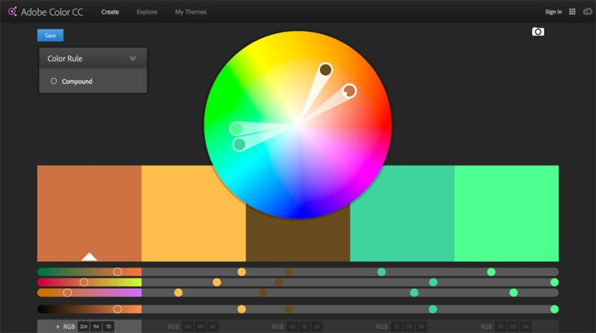 Adobe Color CC — 6 free tools to help you pick iconic brand colours