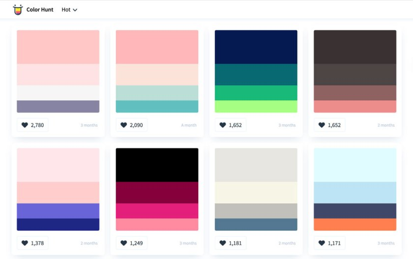 Color Hunt — 6 free tools to help you pick iconic brand colours