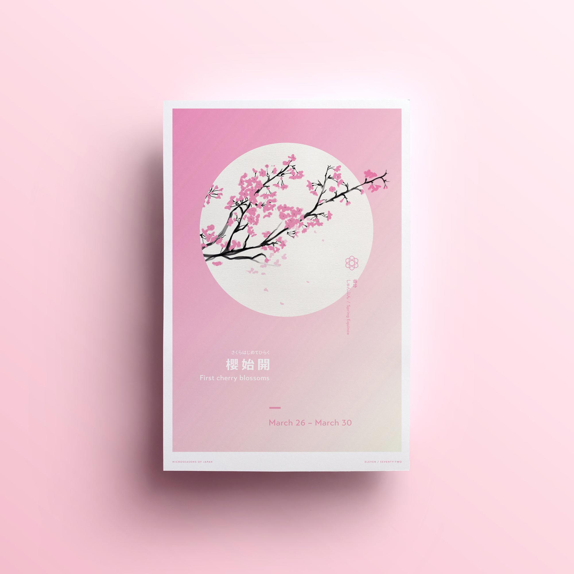 First Cherry Blossoms, poster design by Lisa Furze