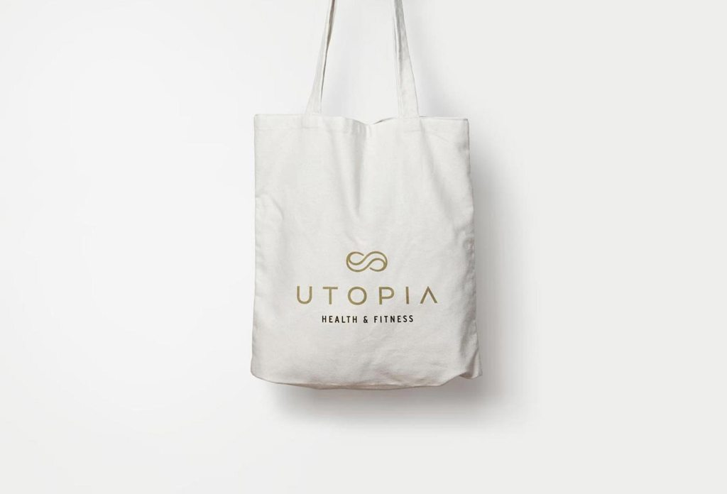 Utopia canvas tote bag, designed by Lisa Furze
