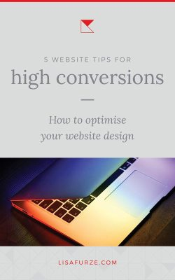 Simple tips to help you create a high converting website design to earn you more subscribers, leads and clients!