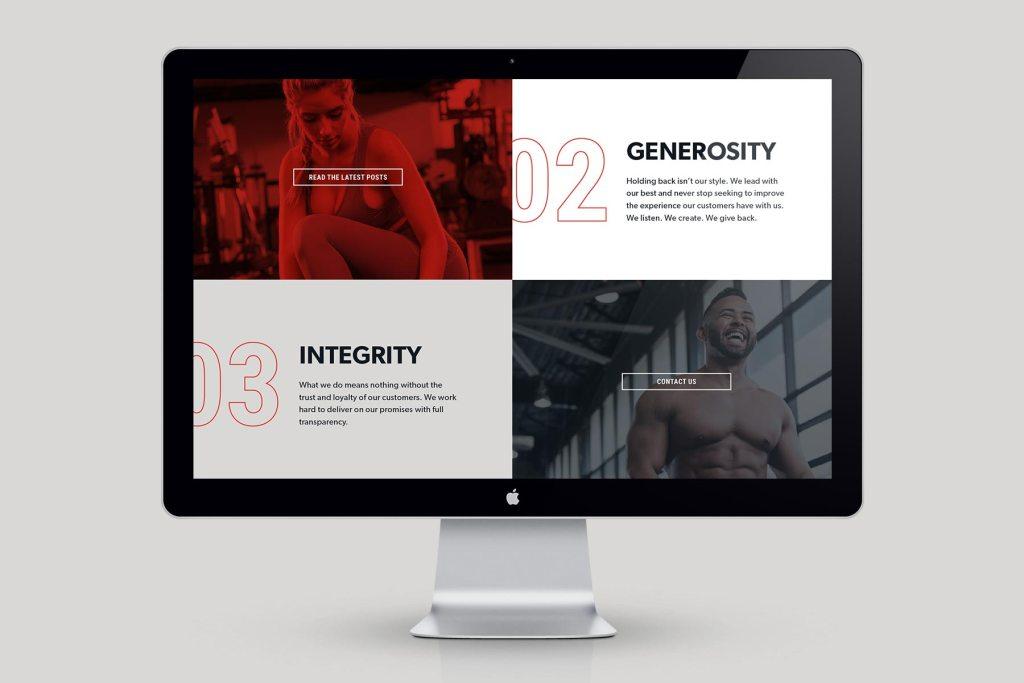 DMoose website page, designed by Lisa Furze