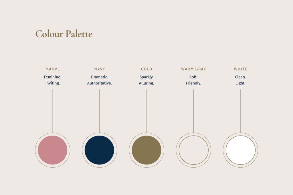 Julie-Ann Wrightson colour palette, designed by Lisa Furze