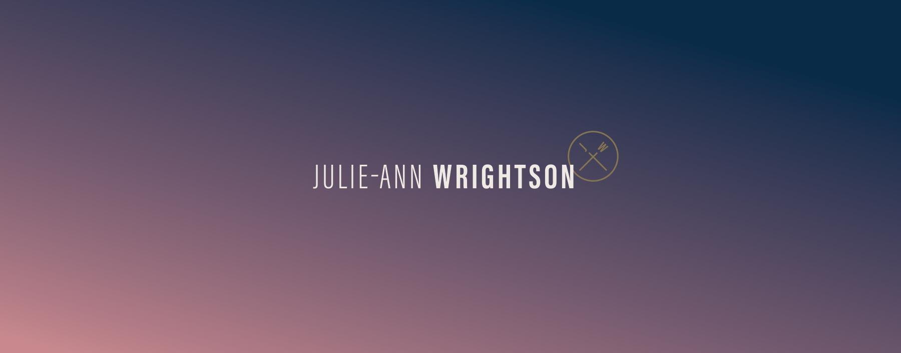 Julie-Ann Wrightson logo design