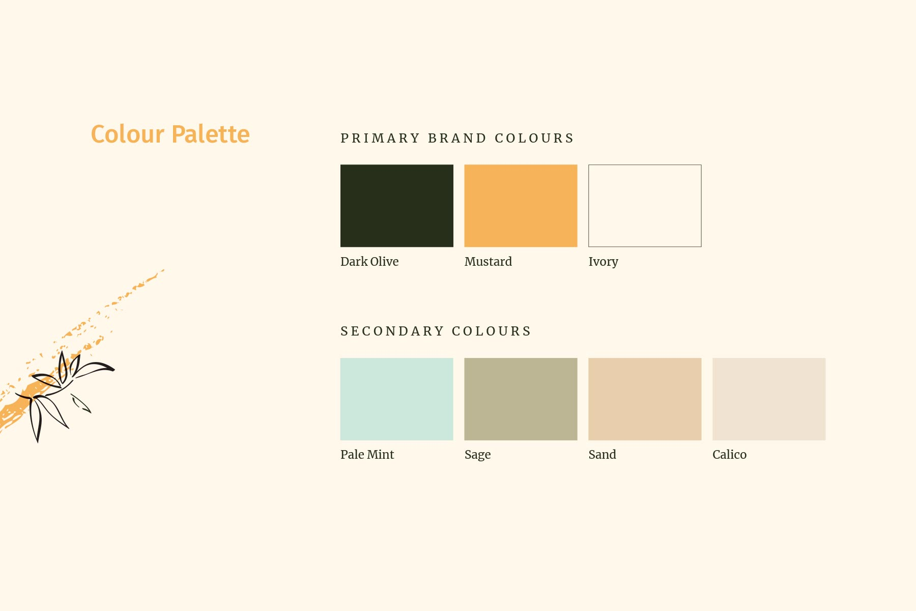 North of Nine Collective colour palette, created by Lisa Furze