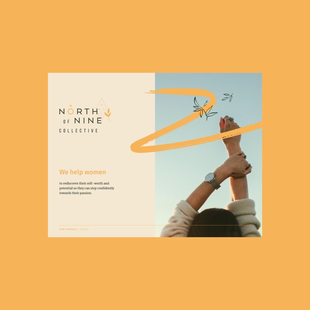 North of Nine therapy and coaching, brand identity design created by Lisa Furze